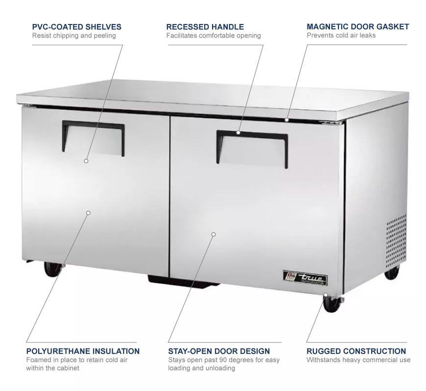 True Manufacturing tuc60 Features