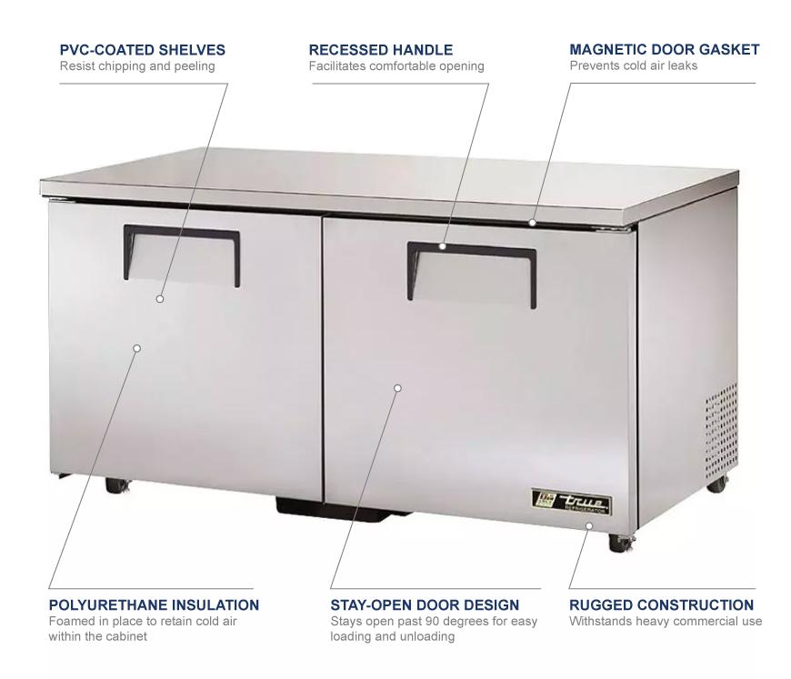True Manufacturing tuc60f Features