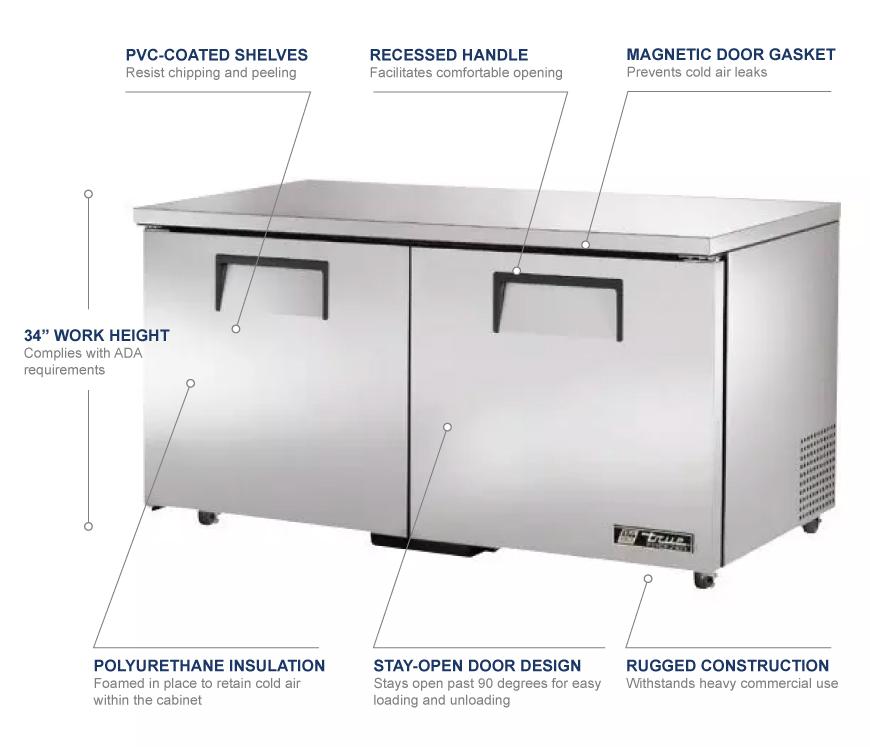 True Manufacturing tuc60fada Features