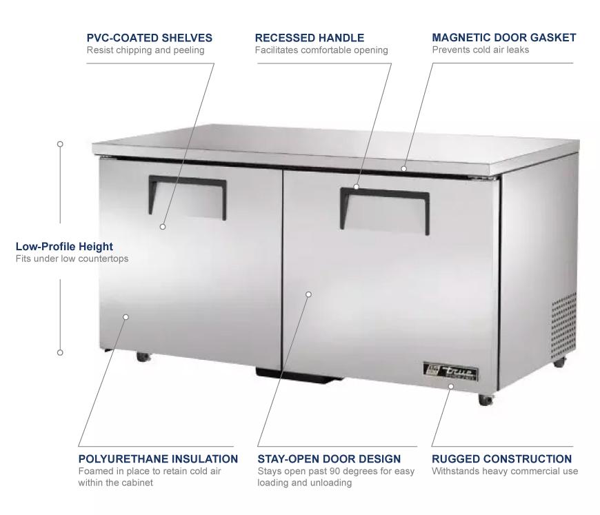True Manufacturing tuc60flp Features