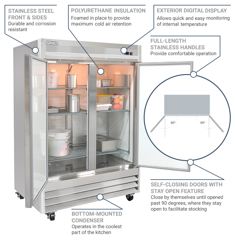 Centaur Plus Two-Section Reach-in Freezer Features