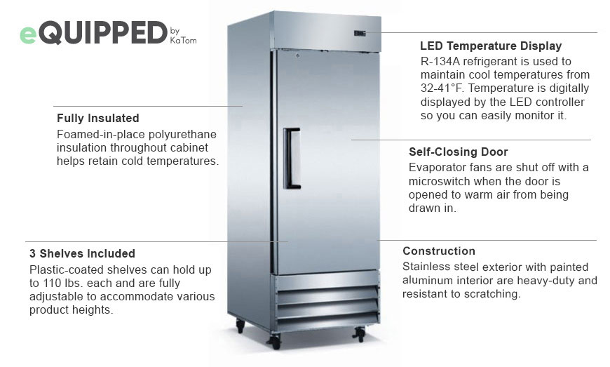 eQuipped Reach-in Refrigerator Features