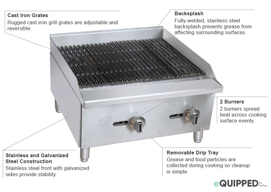 eQuipped 24-inch Charbroiler Features