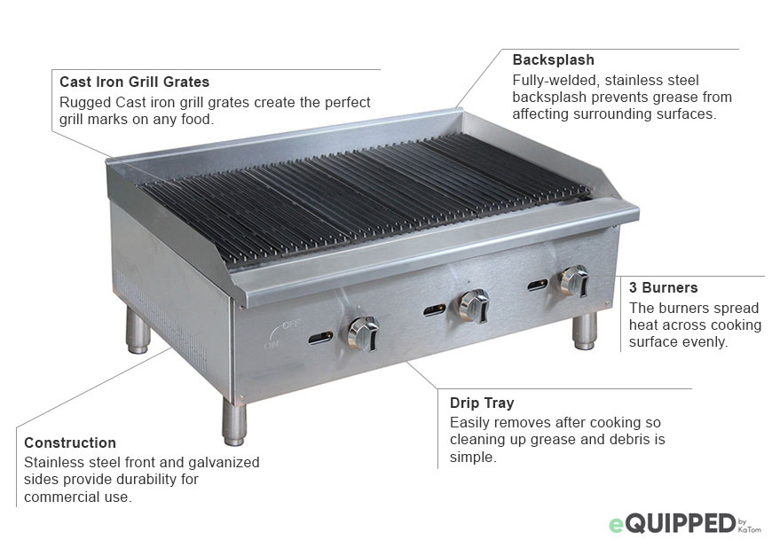 eQuipped 36-inch Charbroiler Features