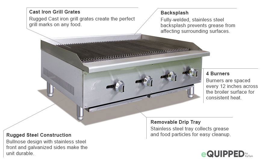 eQuipped 48-inch Charbroiler Features