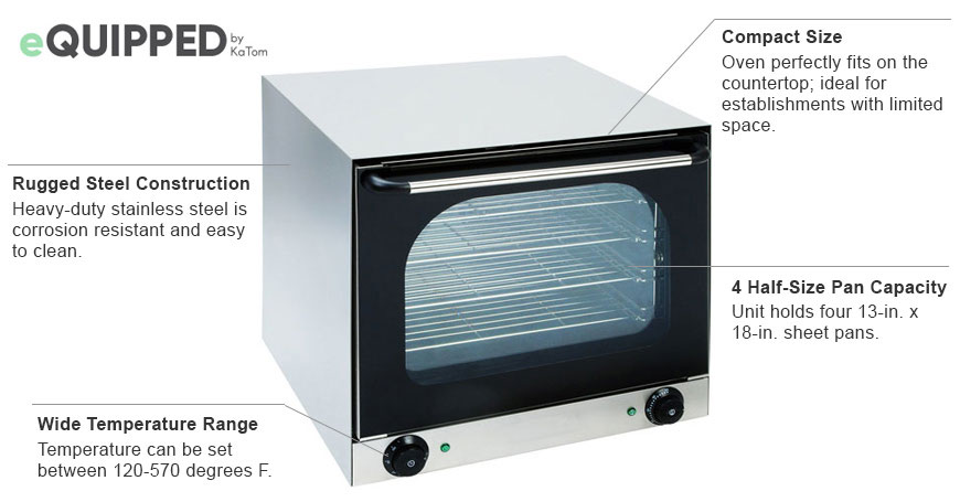 eQuipped Countertop Convection Oven Features